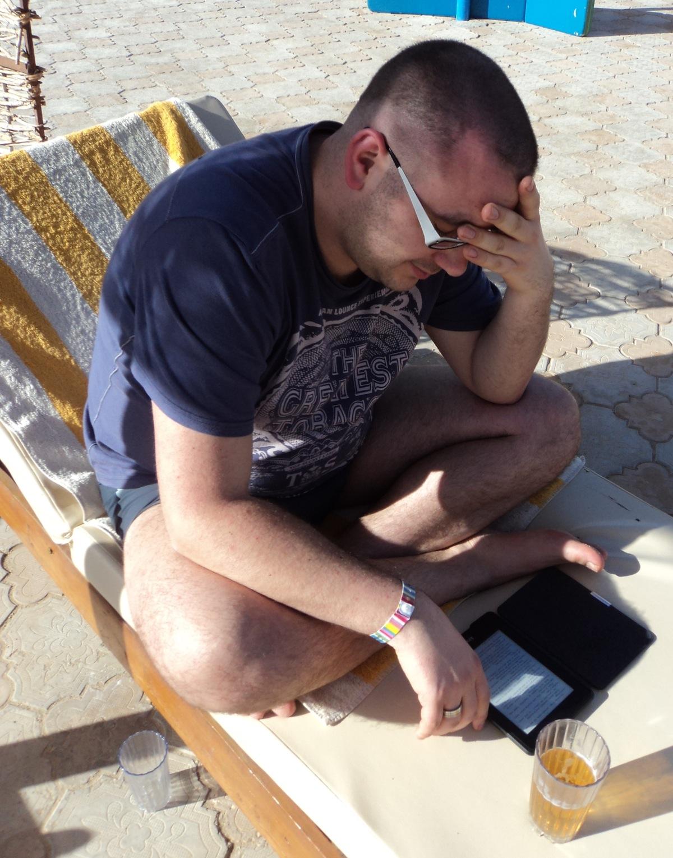 Testowanie E-ink w hardcorowym słońcu