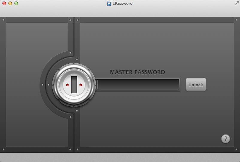 1password - hasło główne