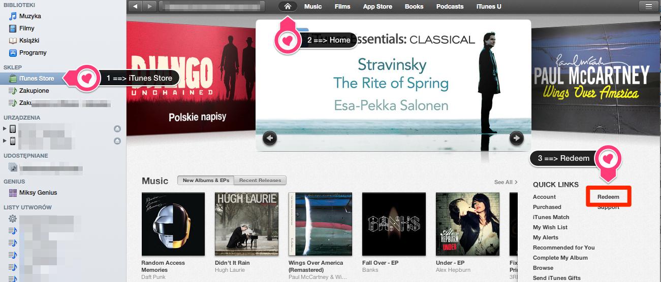 iTunes Redeem (3 kroki)