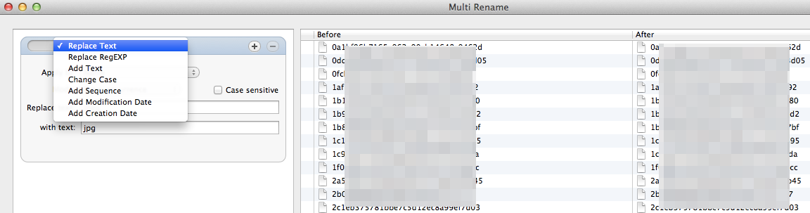 ForkLift - hurtowe operacje na nazwach plików