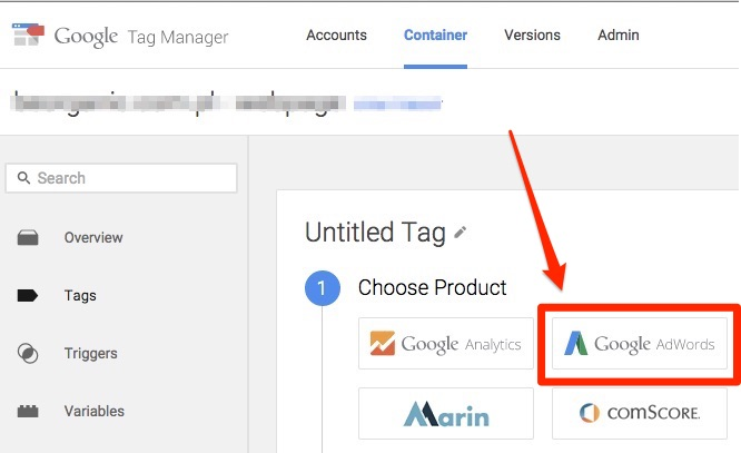 Adwords tag