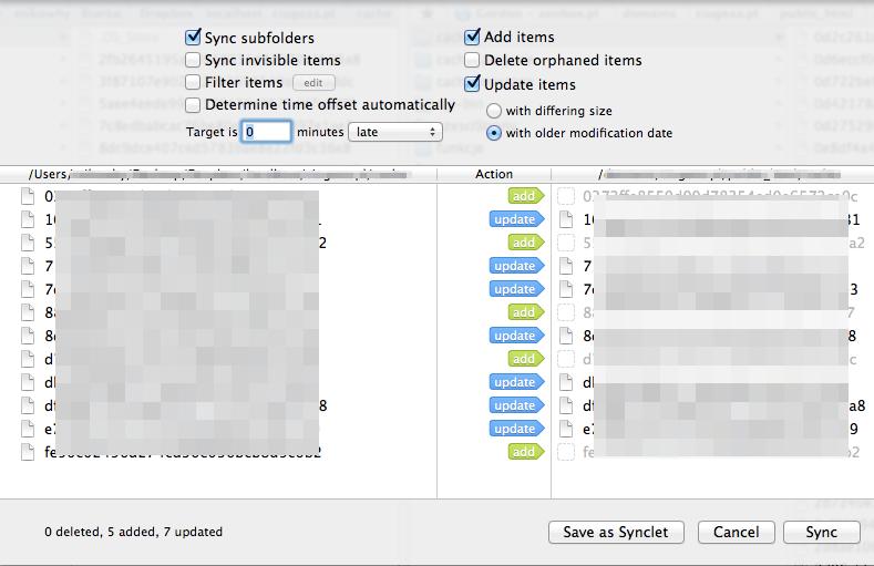 ForkLift - synchroniczne przeglądanie + synclety